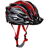 Zacro-Cycle-Adjustable-Thrasher-Adult-Bike-Helmet-with-Detachable-Liner-Black-Plus-Red
