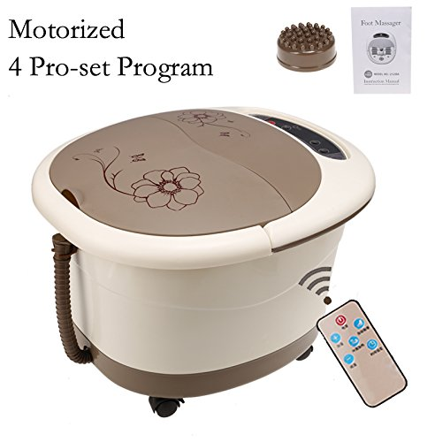 All in One Foot Spa Massage With Motorized Rolling Massage- Remote Control & 4 Pro-set Program - Water Spray, Heating, Rolling Massage, Remote Control, Temperature Setting