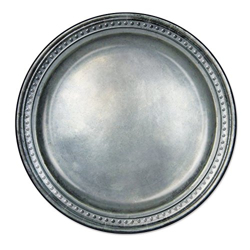 "Beistle 58178 24 Piece Paper Plates, 9"", Pewter"