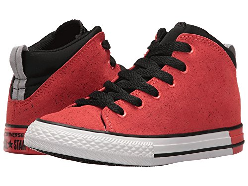 e854218acdd3 Converse Kids Chuck Taylor All Star Official Mid Little Kid Big Kid Ultra  Red Black White Boys Shoes  Amazon.in  Shoes   Handbags