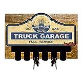Licensed Chevrolet Truck Garage Key Hanger Holder w/ Wood Backing