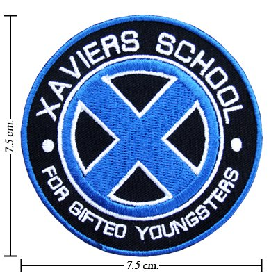 DIY Airsoft Patch Clothing Decor - X-Men Xaviers School Blue Mutant Team Sign Logo Embroidered Iron 1pcs - Unique & Cool Badge Logo -- Cheap CLEARANCE STOCK Never Sale it again !!!! Close listing in 29-07-2012 (Series DIY Airsoft (Team Series Goggles)