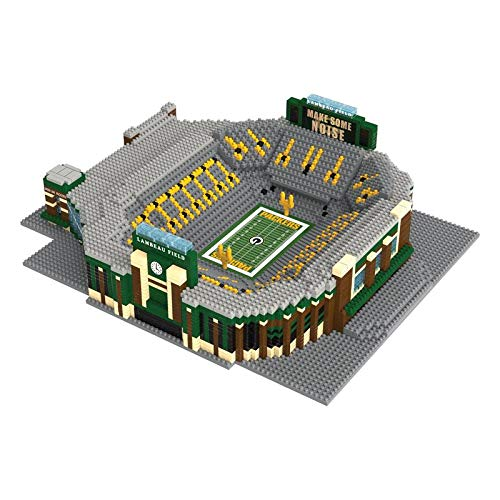 NFL Green Bay Packers 3D Brxlz Stadium Building Blocks Set3D Brxlz Stadium Building Blocks Set, Team Color, One Size (3d Puzzles Stadium)