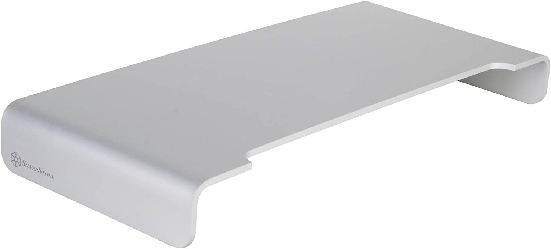 SilverStone Technology Riser Premium Aluminum Unibody Monitor/iMac Stand In Apple Silver (SST-MR01S-V2)