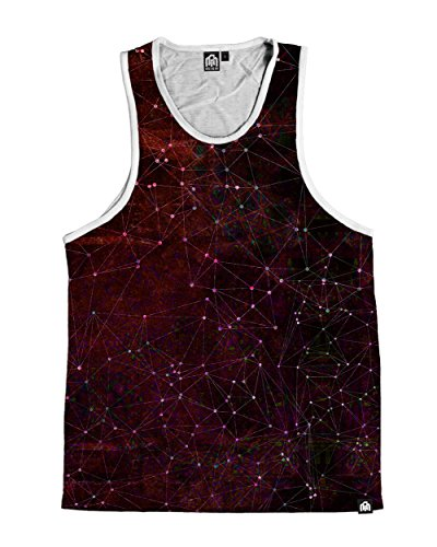 INTO THE AM Zodiac, Red Premium All Over Print Tank Top (XX-Large)