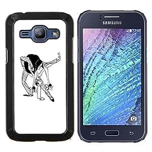 """Be-Star Único Patrón Plástico Duro Fundas Cover Cubre Hard Case Cover Para Samsung Galaxy J1 / J100 ( Danza Hombre Mujer Caricatura del arte divertido"""" )"""