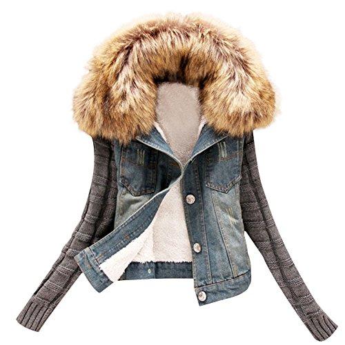 Verypoppa Knitted Sleeve Fleece Jacket product image