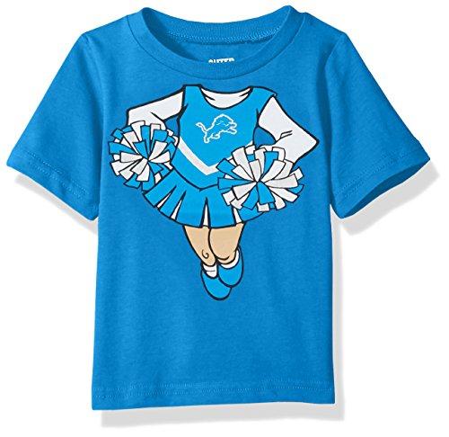 (Outerstuff NFL Infant Dream Cheerleader Short Sleeve Tee-Lions Blue-18 Months, Detroit)