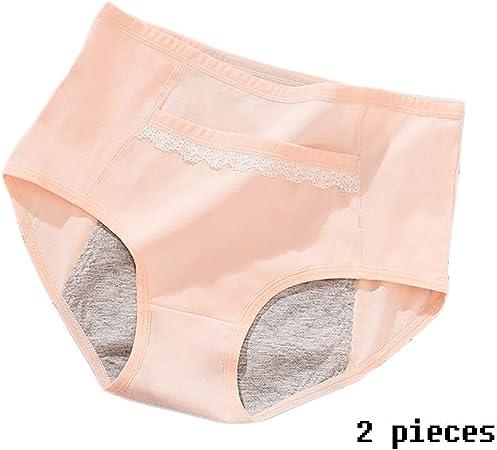 Lu Pantalones Menstruales Bragas Fisiológicas Calentar El Útero Bolsillo Algodón Bragas Hembra Prueba Fugas (Color : Skin, Size : XXL): Amazon.es: Hogar