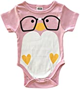 CHUBS NERD BIRD, Cute Baby Girl Clothes, Girl Baby Shower Gift, MADE IN THE USA