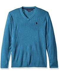 Men's Solid V-Neck Sweater