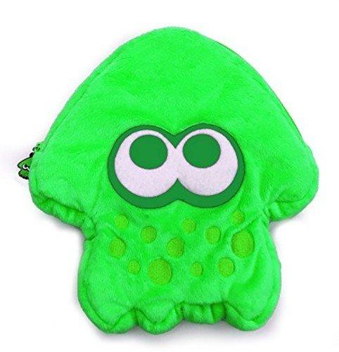 HORI Splatoon 2 Squid Plush Pouch (Neon Green) Officially Licensed – Nintendo Switch
