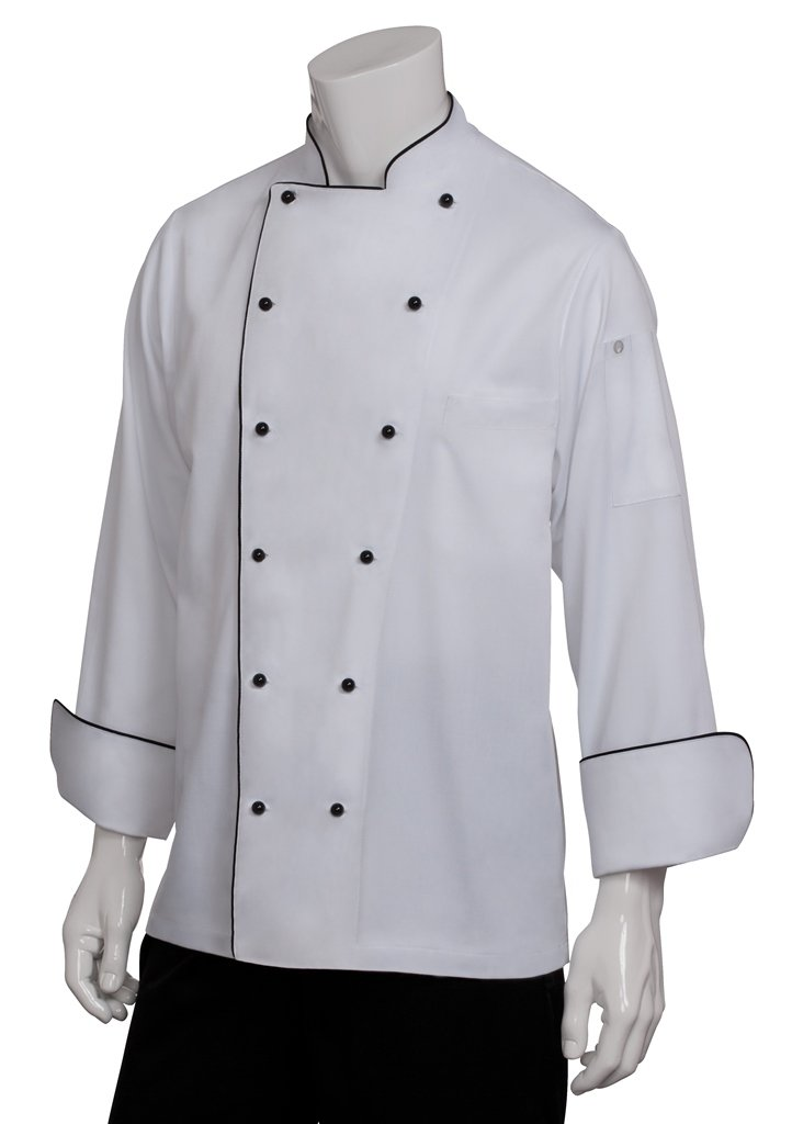 Chef Works Men's Newport Executive Chef Coat, White, 3X-Large