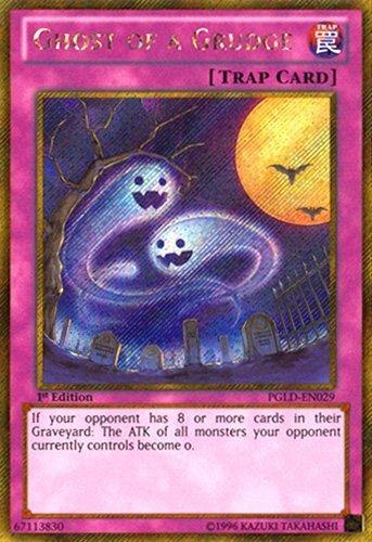 YuGiOh : PGLD-EN029 1st Ed Ghost of a Grudge Gold Secret Rare Card - ( Premium Gold Series Yu-Gi-Oh! Single Card ) by (Single Card Ghost)