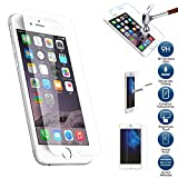 (Pack of 1) iPhone 6S Plus Tempered Glass Screen Protector Easy one touch Bubble-Free Installation HD Ultra Clear Anti Scratch Shatter Proof 9H Hardness Guard by SS Tech® (iPhone 6S Plus Pack of 1)