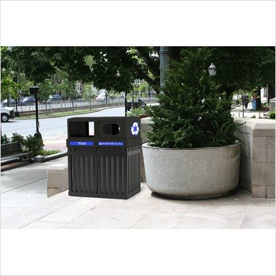 ArchTec Series 50 Gallon Parkview Multi Compartment Recycling Bin