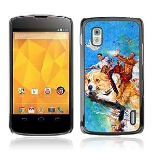 YOYOSHOP [Funny Flying Dog & Obama LOL MEME] LG Google Nexus 4 Case