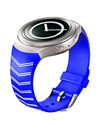 Watch Band, ABC Luxury TPU Silicone Watch Band Strap for Samsung Galaxy Gear S2 SM-R720 (Blue 2)