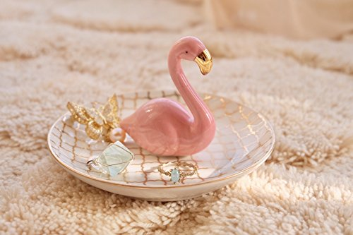 PUDDING CABIN Flamingos Ring Dish Holder Engagement Wedding Gift Ring Display Earrings Necklace Bracelet Jewelry Tray by PUDDING CABIN (Image #6)