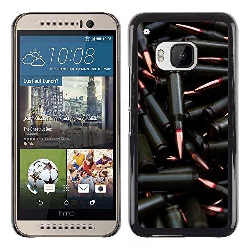 iKiki Tech / Hard Case Cover - Black Bullet - HTC One M9