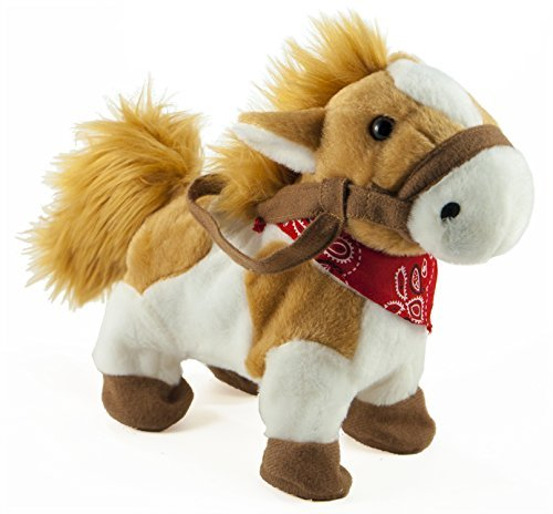 Toy Horse Musical - Cuddle Barn Rusty The Painted Pony Animated Musical Plush Toy, 10