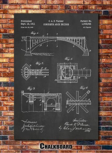 (Arch Bridge Patent Print Art 1911 (multiples sizes and colors available))