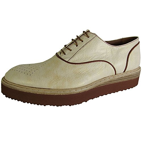 Donald J Pliner Signature Hombres Marx-ew Oxford Zapatos Natural Pearlized Metallic Goat