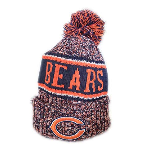 - Gloral HIF Chicago Bears Winter Cuffed Hat Fashion Toque Cap for Mens