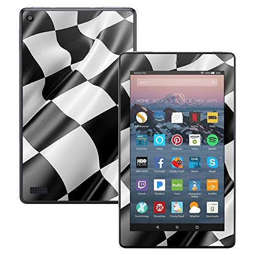 MightySkins Skin Compatible with Amazon Kindle Fire 7 (2017) - Race Flag | Protective, Durable, and Unique Vinyl Decal wrap Cover | Easy to Apply, Remove, and Change Styles | Made in The USA