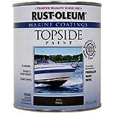 Rust-Oleum 207006 Marine Topside Paint, Black, 1-Quart