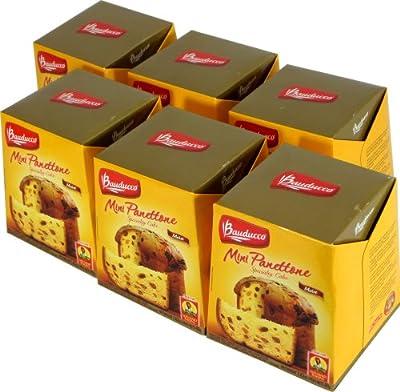 Mini Panettone Specialty Cake Bauducco - 2.82 oz - Mini Panettone Tradicional Bauducco - 80g (Pack of 6) by PANDURATA ALIMENTOS LTDA