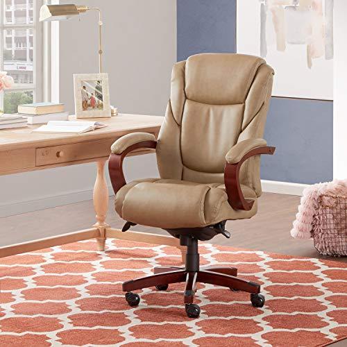 La-Z-Boy Miramar Executive Bonded Leather Office Chair - Taupe (La Z Boy Bonded Leather Executive Office Chair)