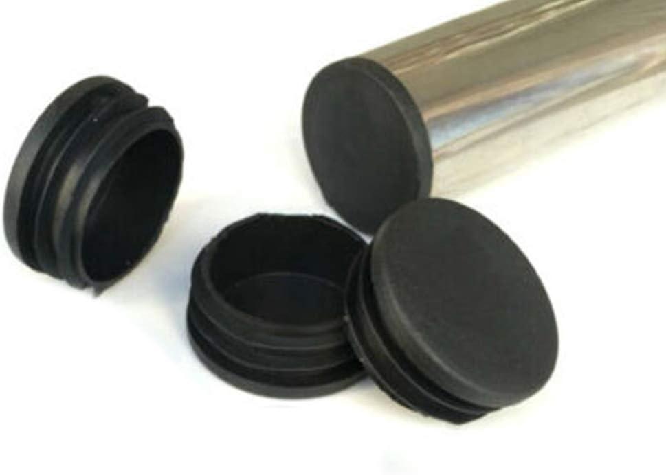 Kappen Raybre Art 100X runde schwarze Endkappe aus Kunststoff Rohreins/ätze Stopfen 25mm