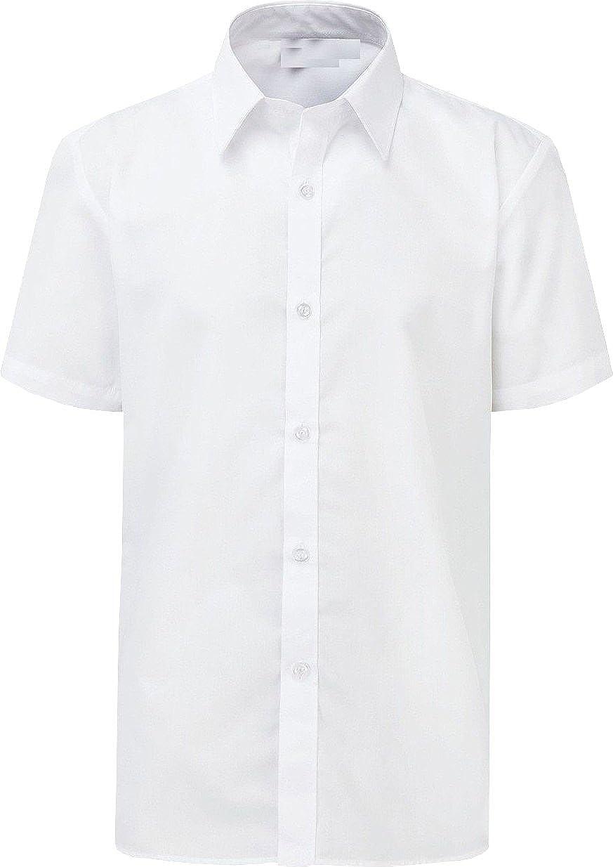 Onlyglobal Mens Work Party Shirt Short Sleeve White Sky Blue Shirt Office Work Formal Smart
