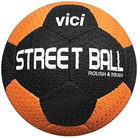 VICI Calle balón de fútbol - tamaño Negro/Naranja, 5: Amazon.es ...
