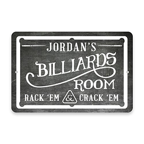 Review Personalized Chalkboard Billiards Room