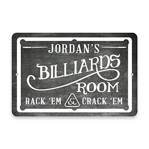 Personalized Chalkboard Billiards Room Metal Room Sign ()