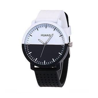 new styles a3986 758e6 Amazon | 腕時計 メンズ カップル 黑白文字盤 クォーツ 高級感 ...
