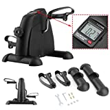 Coldecedar Mini Exercise Bike Pedal Exerciser Arm and Leg Cycle Exercise Bike Adjustable Resistance with LCD Display Indoor home Fitness 265lb