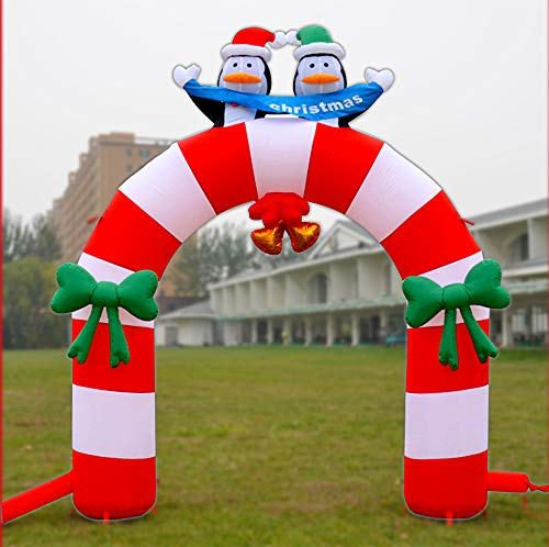 Elk Arches - Christmas Tree Inflatable Arches Holiday Decorations Large Inflatable Santa Claus Elk Castle Christmas Decorations Hotel Shopping Mall Home Decorations,4
