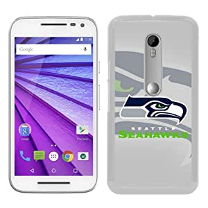 High Quality Seattle Seahawks 6 White Motorola Moto G 3rd Generation Screen Phone Case Unique and Fashion Design
