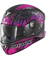 Shark SKWAL 2 SWITCH RIDER 2 MAT KVV Casco de motocicleta, negro/morado, talla S