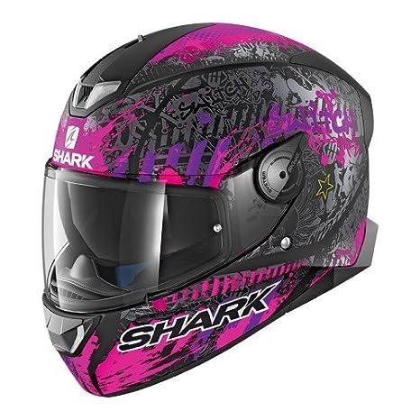 Shark SKWAL 2 SWITCH RIDER 2 MAT KVV Casco de motocicleta talla S negro//morado