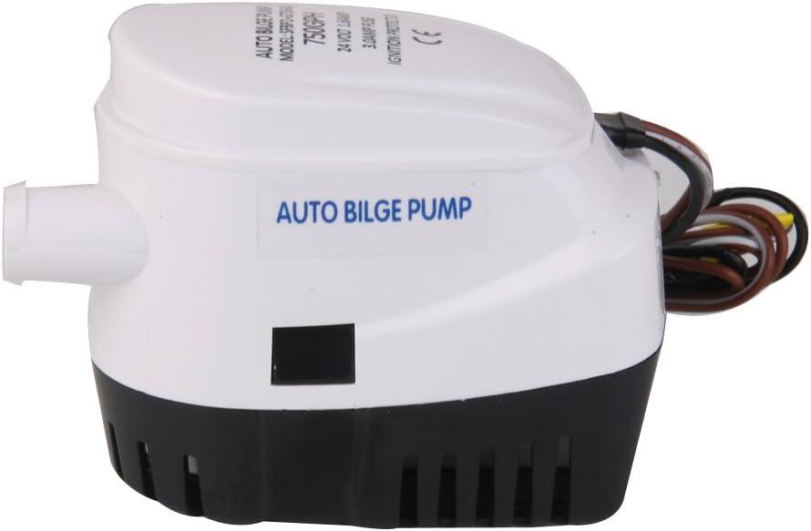 Shiwaki 24v Bomba De Agua Sumergible De Achique Barco Automática 750gph Interruptor De Flotador Automático