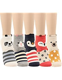 Women Girls Sweet Animal Zoo Cute Funny Novelty Crew Dog Cat Owl Penguin Socks