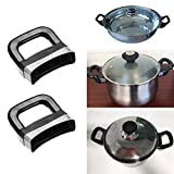 CHICTRY 2Pcs Pot Handle Metal Pressure Pan Cooker Steamer Sauce Pot Short Side Handle Ear Replacement for Home Tools Type A One Size