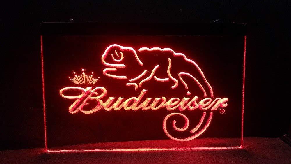 A084-b Budweiser Frank Lizard Beer Bar Neon Light Signs