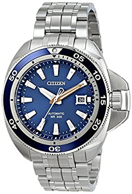 Citizen Men's NB1031-53L Grand Touring Analog Display Automatic Self Wind Silver Watch