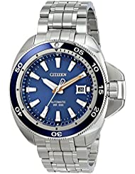 Citizen Mens NB1031-53L Grand Touring Analog Display Automatic Self Wind Silver Watch