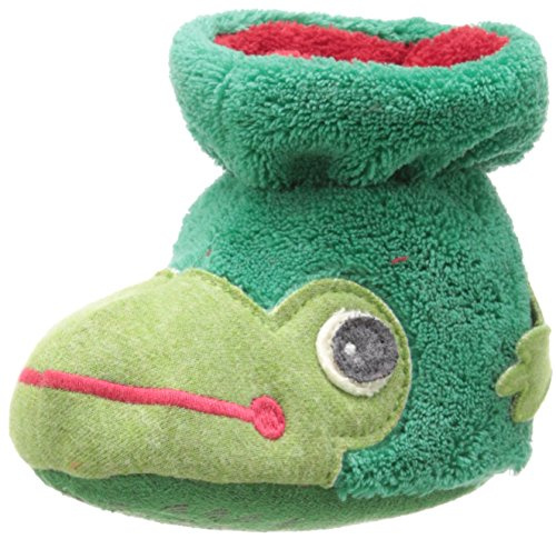 ACORN Easy Critter Kids Bootie Slipper,Frog,Toddler Medium 6-12 Months